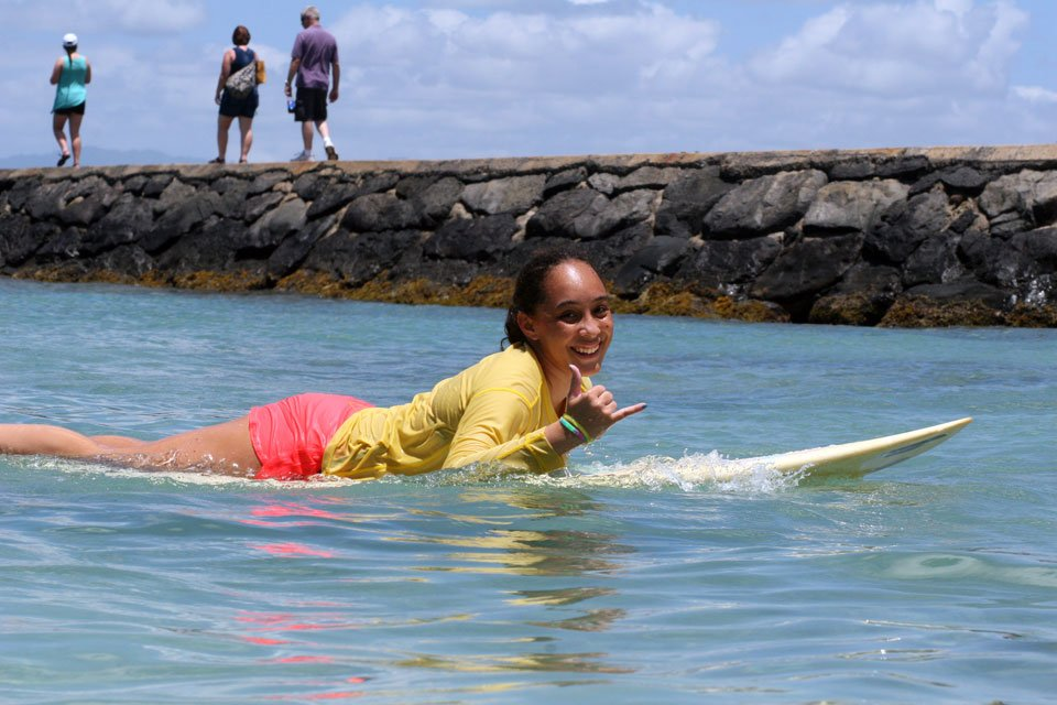 Jena-Noelani Anderson Waikiki Surf Instructor