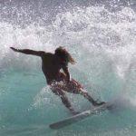 Sean Anderson surfing Publics surf on Oahu Hawai'i .